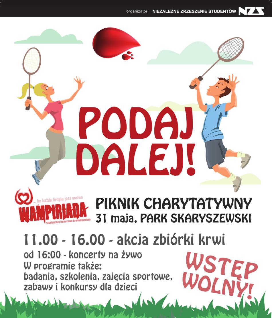 Oddaj krew w Parku Skaryszewskim