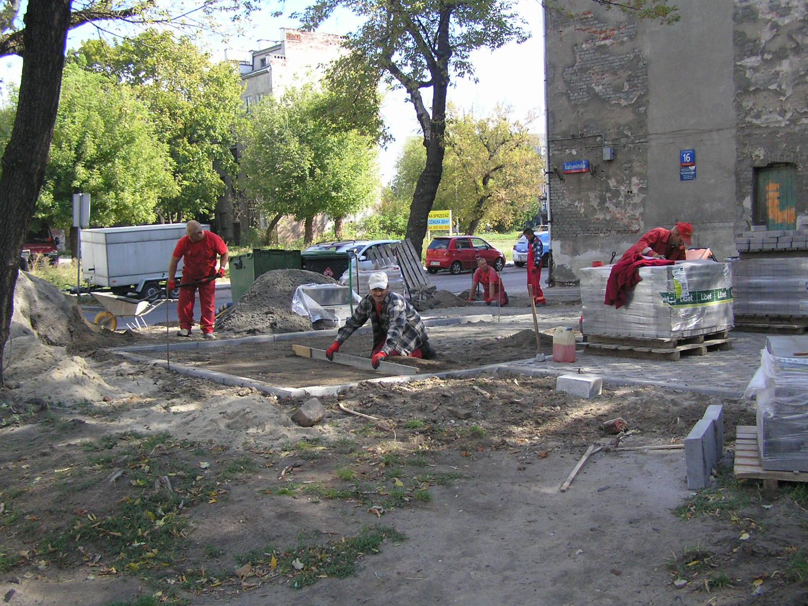 Znaleziska podczas remontu podwórka przy Radzymińskiej 16