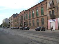 Prace rozbiórkowe na terenie Fabryki Farb Graficznych