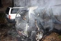 Pożar Mercedesa na Siedleckiej